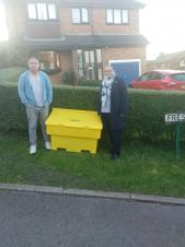 New Grit Bin on Fresh Court, Simmondley